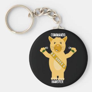 Commando Hamster Keychain