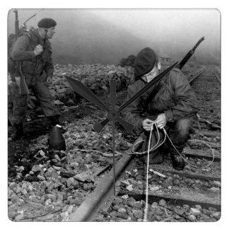 Commandoes of the 41st Royal British_War Image Wall Clock