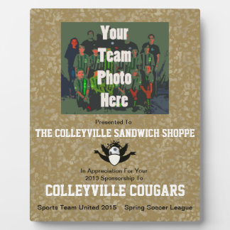 Commemorate Your Sponsors With A - Plaque