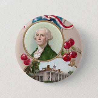 Commemorating George Washington 2 Inch Round Button