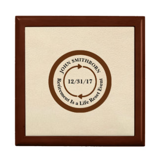 Commemorative Brown on Cream Retirement Gift Box