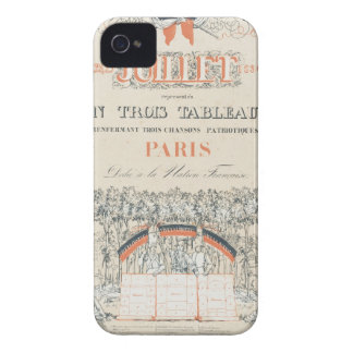 Commemorative French Program Case-Mate iPhone 4 Case