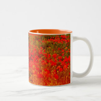Commemorative poppies Two-Tone coffee mug