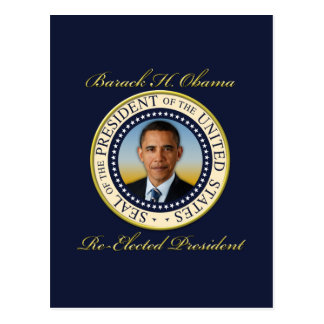 Commemorative President Barack Obama Re-Election Postcard