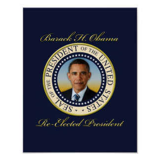 Commemorative President Barack Obama Re-Election Posters