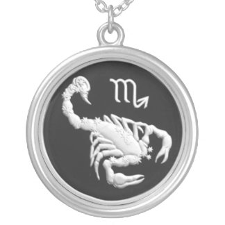 Commemorative Russian Coin, Scorpio Zodiac Silver Plated Necklace
