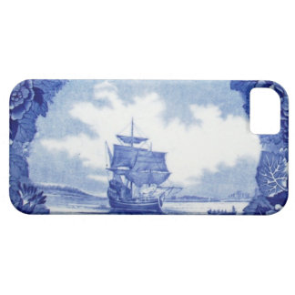 Commemorative vintage blue & white Mayflower China iPhone 5 Covers