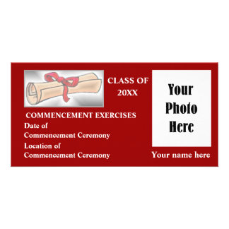 Commencement Announcement - Red Card