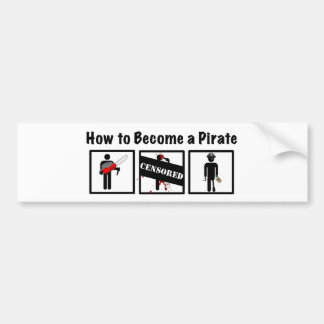 Comment devenir un pirate autocollant de voiture