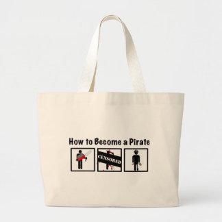 Comment devenir un pirate sac en toile jumbo