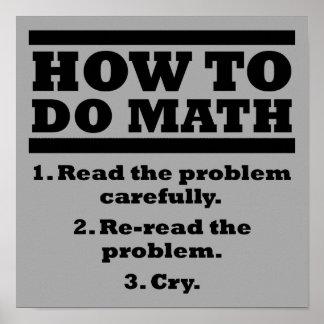 Comment faire le signe drôle d'affiche de maths poster