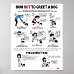 """Comment ne pas saluer un chien (11"""" x 14"""") poster"""