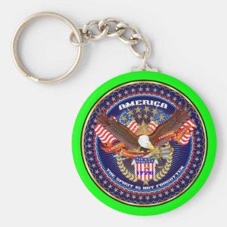 Commentaires patriotiques ou de vétéran de la séle porte-clefs