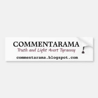 Commentarama Bumper Sticker