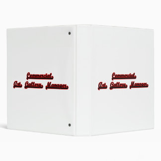 Commercial Art Gallery Manager Classic Job Design 3 Ring Binder