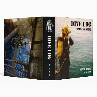 Commercial Diver Log Book Vinyl Binder