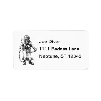 Commercial Diving Mailing Label