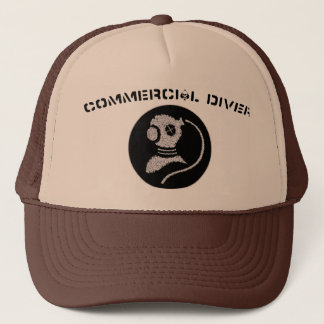 Commercial Diving Patch Hat- black patch Trucker Hat