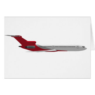 Commercial Jet Airplane: 3D Model: Card