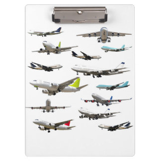 Commercial Jet Variety Pattern Clipboard