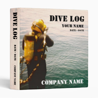 Commercial or Scuba Diving Log Book Vinyl Binder