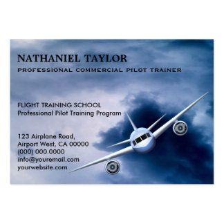 Commercial Plane in the Sky Aviation Business Card