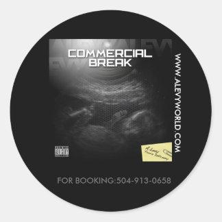 commercialbreak cover, WWW.ALEVYWORLD.COM, FOR ... Round Sticker