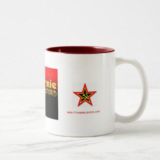 commie bastard, commie star, commie star, www.7... Two-Tone coffee mug