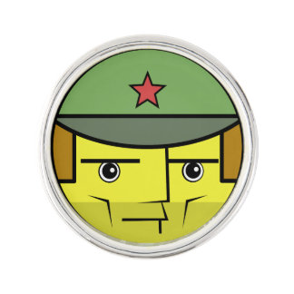 Commie Face Lapel Pin