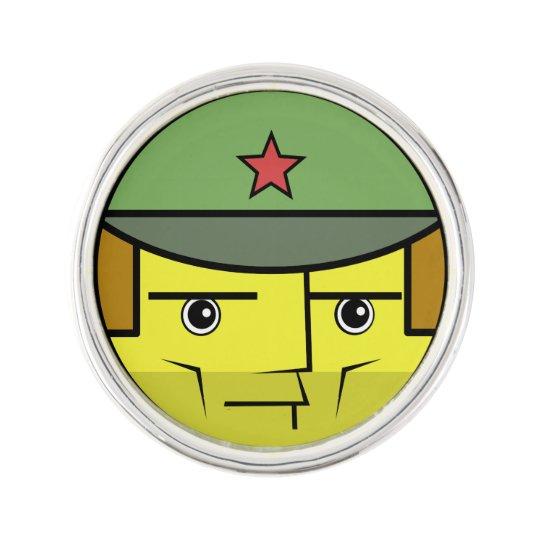 Commie Face Lapel Pin