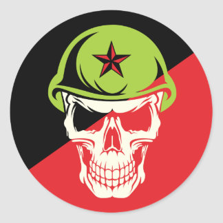 Commie Skull Anarchy Edition Sticker