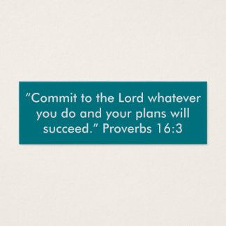 """Commit to the Lord"" Little Notes Mini Business Card"