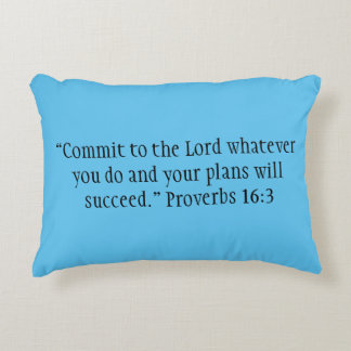 """Commit to the Lord"" Scripture Accent Pillow"