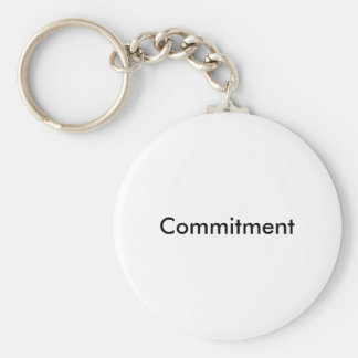 Commitment Keychain/Keyring Basic Round Button Keychain