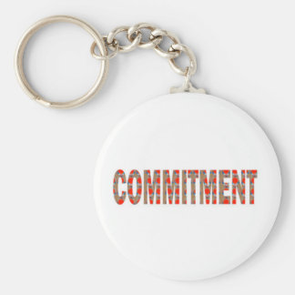 COMMITMENT Promise Oath Responsibility LOWPRICE GI Basic Round Button Keychain