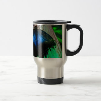 Common blue butterfly travel mug