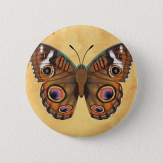 Common Buckeye Butterfly 2 Inch Round Button