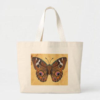 Common Buckeye Butterfly Large Tote Bag