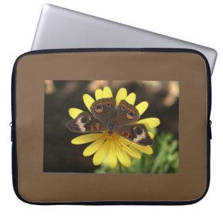 Common Buckeye Butterfly on a Daisy Laptop Sleeve