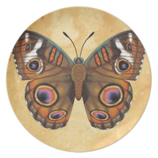 Common Buckeye Butterfly Plate