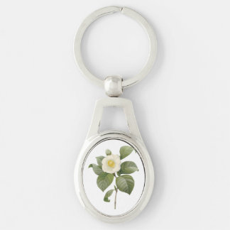 common camellia(Camellia japonica) by Redouté Keychain