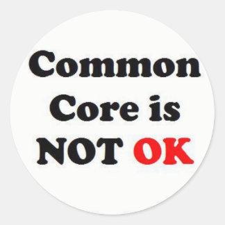 Common Core is NOT OK! Classic Round Sticker