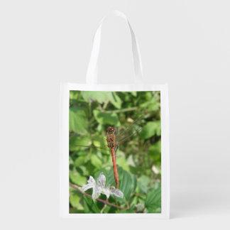 Common Darter Dragonfly Reusable Bag Grocery Bag
