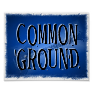 Common Ground Band Poster