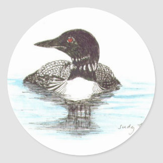 Common Loon Classic Round Sticker