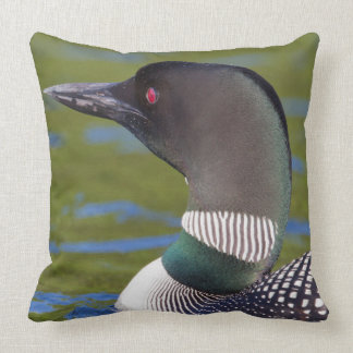 Common loon in water, Canada Throw Pillow