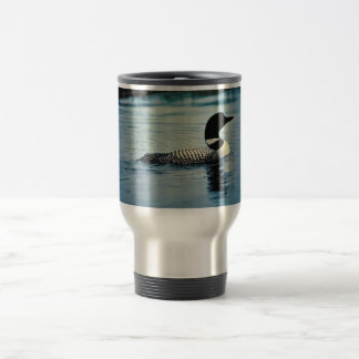 Common Loon on Water Stainless Steel Travel Mug
