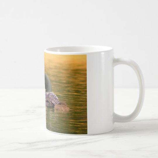 Common Loon with 2 Chicks Coffee Mug
