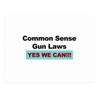 Common Sense Gun Laws - Yes We Can! Postcard