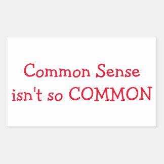 Common Sense isn't so COMMON sticker
